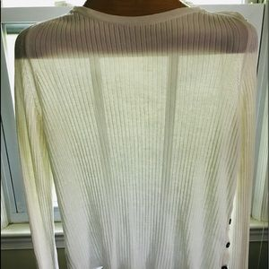 Burberry white slim sweater, size L